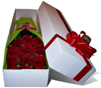 Dozen Premium long stemmed roses in box in Fort Myers FL, Ft. Myers Express Floral & Gifts