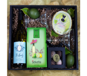 A Little Buzzed Wine-A-Rita Gift Crate in Reno NV, Bumblebee Blooms Flower Boutique