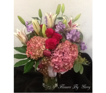 Victorian Romance  in Brentwood CA, Flowers By Gerry