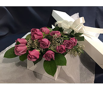Lavender Roses Boxed in Markham ON, Freshland Flowers
