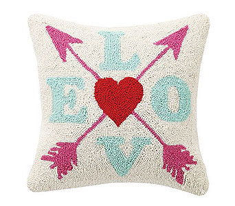 LOVE HOOK PILLOW in Bellevue WA, CITY FLOWERS, INC.
