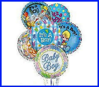 Baby Boy Balloon Bouquet in Hamilton ON, Joanna's Florist
