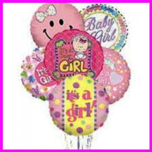 Baby Girl Balloon Bouquet in Hamilton ON, Joanna's Florist