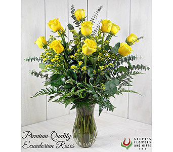 Premium Quality Yellow Roses in Indianapolis IN, Steve's Flowers and Gifts