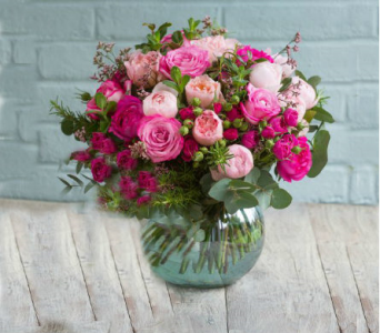 Mix Pink Rose Arrangement in Orinda CA, Misaghi Design Orinda Florist