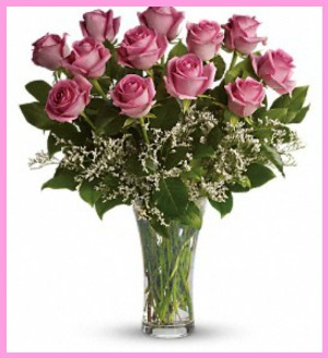Make Me Blush Dozen Long Stemmed Pink Roses in Hamilton ON, Joanna's Florist