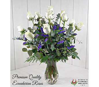 Premium Quality White Roses in Pendleton IN, The Flower Cart