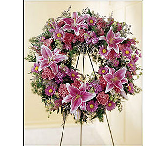 The FTD Loving Remembrance Wreath in Cohasset MA, ExoticFlowers.biz