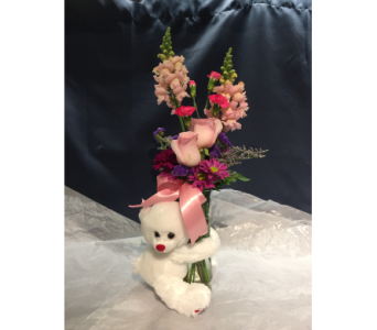 Pink Rose Bear Hug in Markham ON, Freshland Flowers