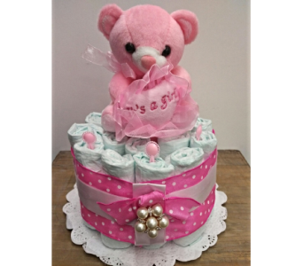 Baby Girl Diaper Cake in Etobicoke ON, Alana's Flowers & Gifts