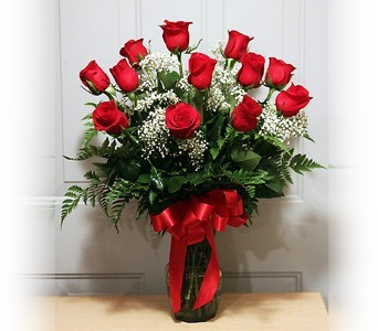 Dozen Red Roses in Kokomo IN, Bowden Flowers & Gifts