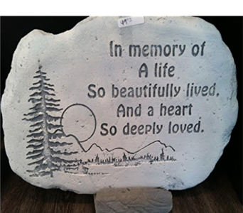 Stepping Stone Heart in Royal Oak MI, Irish Rose Flower Shop