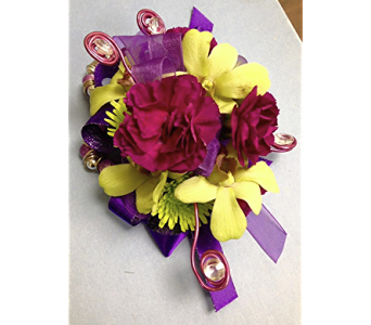 Babe You�re my Electric Wrist Corsage in Fairless Hills PA, Flowers By Jennie-Lynne