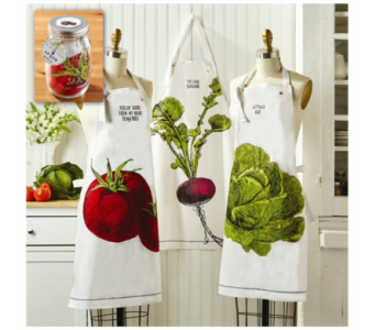 Two's Company� Apron  in Moorhead MN, Country Greenery