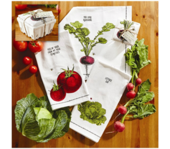 Two's Company� Dishtowel in Moorhead MN, Country Greenery