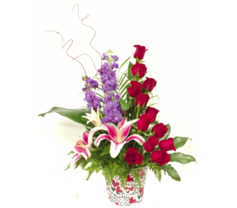 Tower of Roses - Premium in Pinellas Park FL, Hayes Florist