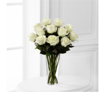 WHITE ROSE BOUQUET in Arizona, AZ, Fresh Bloomers Flowers & Gifts, Inc