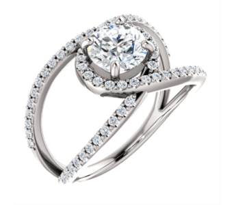 Accented Engagement Ring in Winter Haven FL, DHS Design Guild
