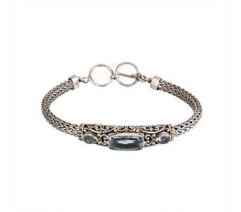 SS BLUE TOPAZ BRACELET in Winter Haven FL, DHS Design Guild