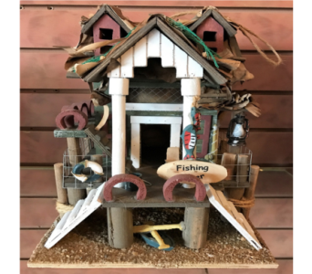 Fishing Pier Bird House in Huntington WV, Archer's Flowers, Inc.