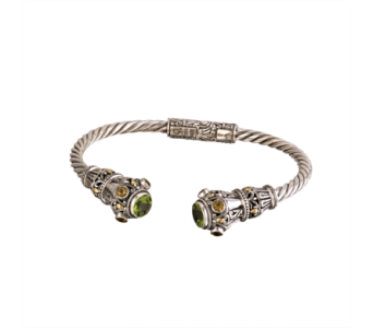 SS PERIDOT/CITRINE HINGED CUFF BANG in Winter Haven FL, DHS Design Guild
