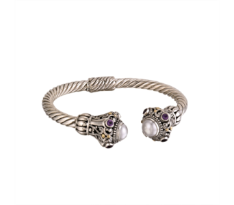 SS AMETHYST MABE CUFF in Winter Haven FL, DHS Design Guild