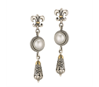 SS WHITE PEARL EARRINGS in Winter Haven FL, DHS Design Guild
