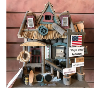 Wagon Wheel Restaurant Bird House in Huntington WV, Archer's Flowers, Inc.