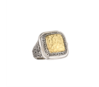 SS HAMMERED 18K BALI DESIGN RING in Winter Haven FL, DHS Design Guild