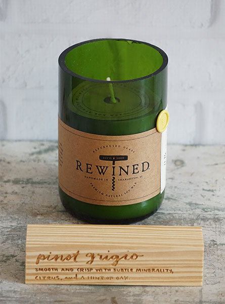 Rewined Pinot Grigio Candle in Denver CO, Lehrer's Flowers
