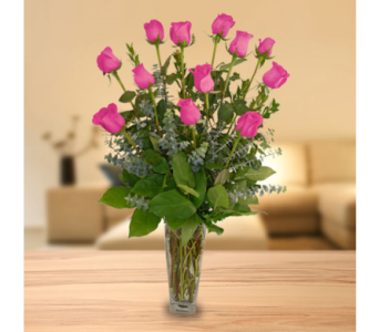 Classic Dozen Roses - Pink in Dallas TX, In Bloom Flowers, Gifts and More