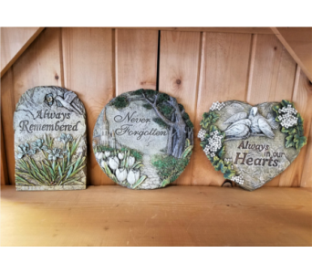 Sentiment Stepping Stones in Moorhead MN, Country Greenery