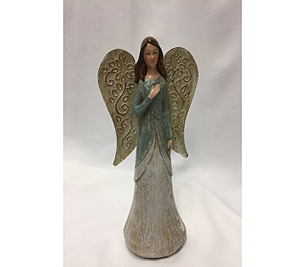 Angelic Angel (Teal) in Dearborn MI, Fisher's Flower Shop