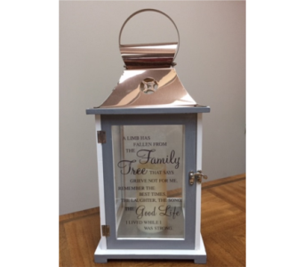Memorial Lantern-Family in Brownsburg IN, Queen Anne's Lace Flowers & Gifts