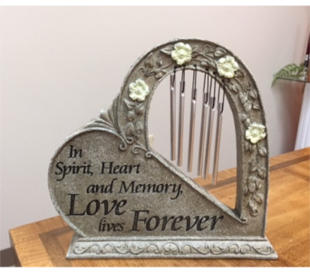 Love Forever Heart Chime in Brownsburg IN, Queen Anne's Lace Flowers & Gifts
