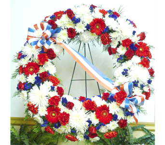 Patriotic Wreath in Warren MI, Downing's Flowers & Gifts Inc.