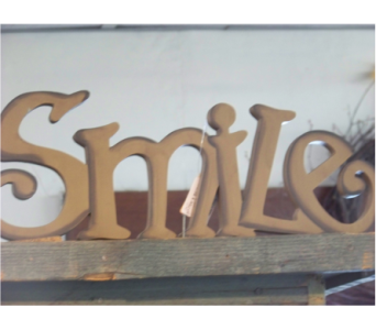 SMILE SIGN in Claremont NH, Colonial Florist