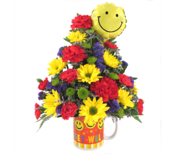 Smiley Face Get Well Bouquet in Southfield MI, Thrifty Florist