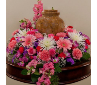 Mixed Spring Urn Wreath in Indianapolis IN, George Thomas Florist