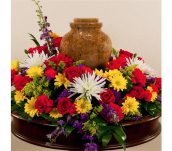 Mixed Colors Urn Wreath in Indianapolis IN, George Thomas Florist