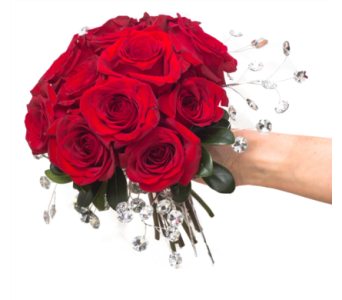 Red Clutch Bouquet in Little Rock AR, Tipton & Hurst, Inc.