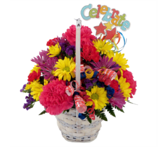 Celebration Basket Bouquet in Southfield MI, Thrifty Florist