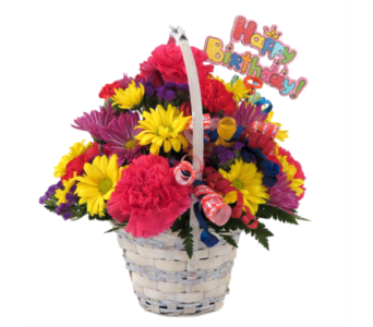 Happy Birthday Basket in Southfield MI, Thrifty Florist
