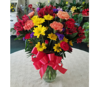 Bright Deluxe Vase in Lehigh Acres FL, Bright Petals Florist, Inc.