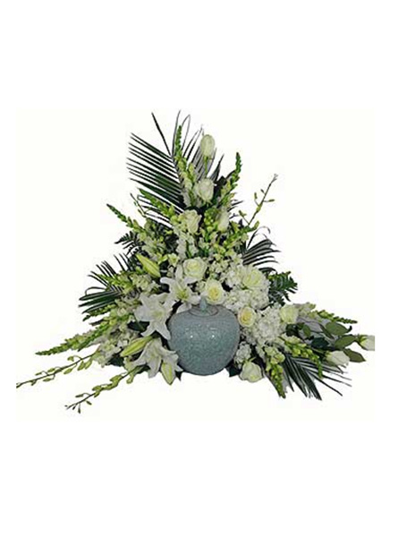 Simple Devotion Deluxe Cremation Setting  in Arlington Heights IL, Sylvia's - Amlings Flowers