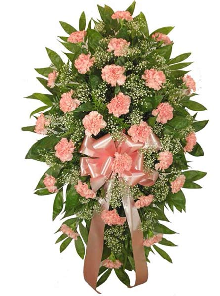 Timeless Traditions Pink Standing Spray  in Arlington Heights IL, Sylvia's - Amlings Flowers