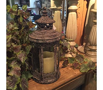 Rustic Antique Brown Lantern in Owensboro KY, Welborn's Floral Company