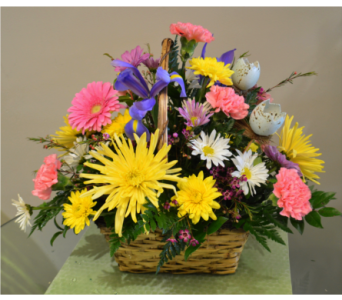 Easter Basket Arrangement in Utica NY, Chester's Flower Shop And Greenhouses