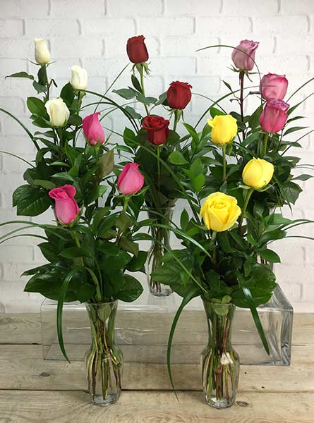 Assorted Rose Bud Vases in Raleigh NC, Fallon's Flowers