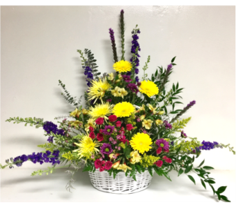 Bright Tribute Basket in Wyoming MI, Wyoming Stuyvesant Floral